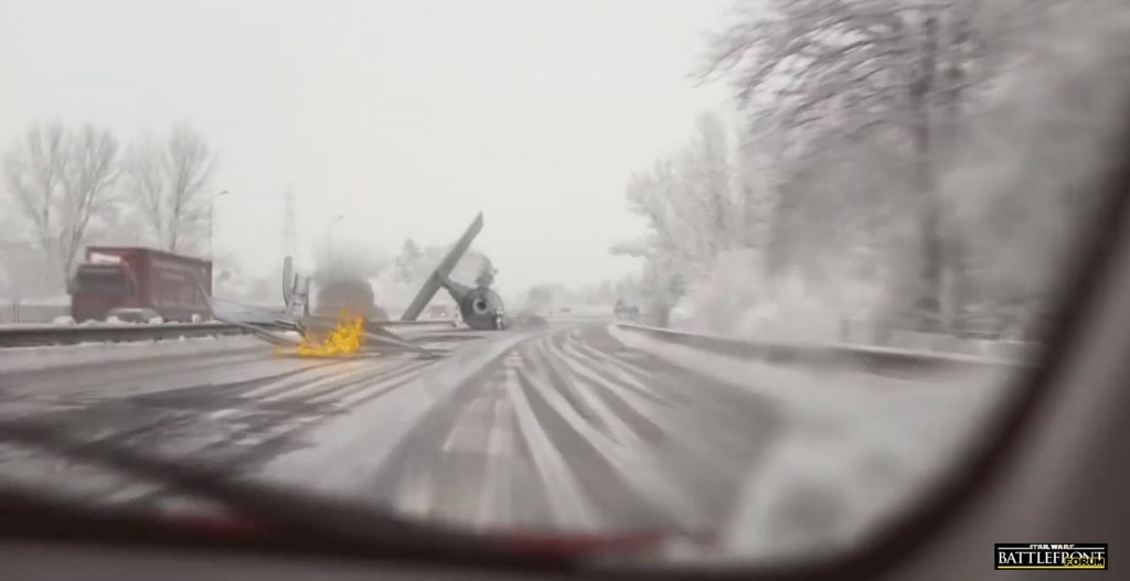Dashcam Tie Fighter Crash Scene