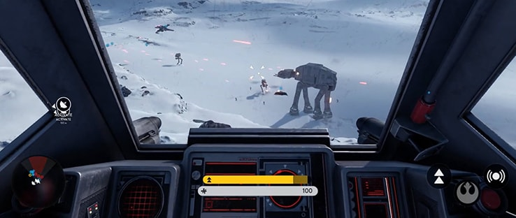 Snowspeeder Cockpit Battlefront Vehicle