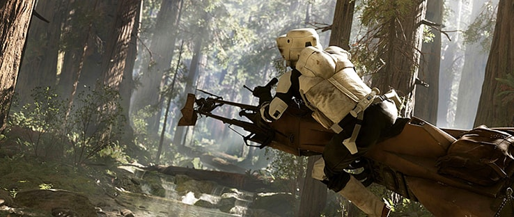 Speeder Bike Battlefront Vehicle