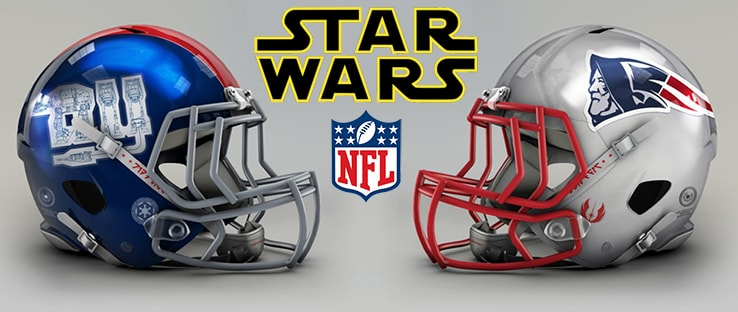 Star Wars NFL Football Helmets