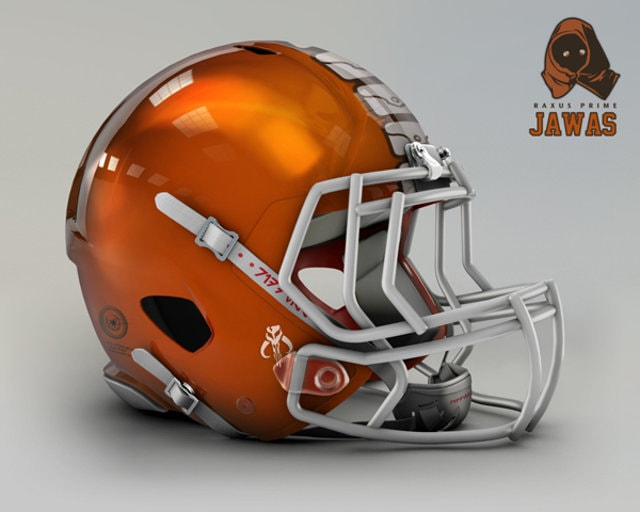 NFL Star Wars Football Helmet - Browns