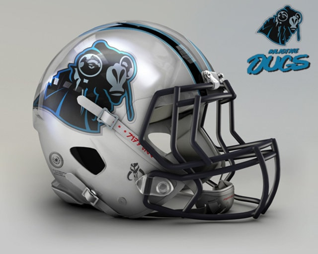 NFL Star Wars Football Helmet - Panthers