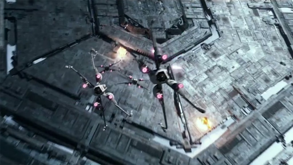 X-Wing Attacking Starkiller Base