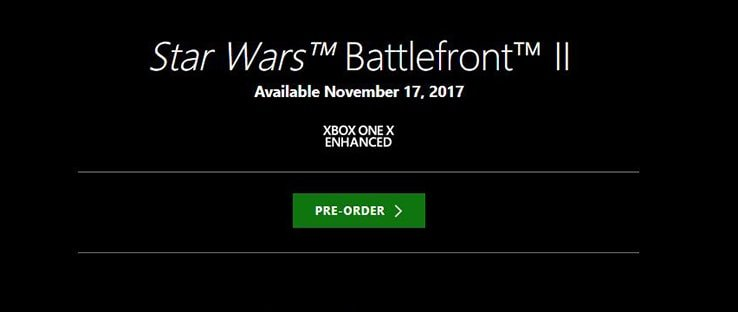 Xbox One X Enhanced For Battlefront 2