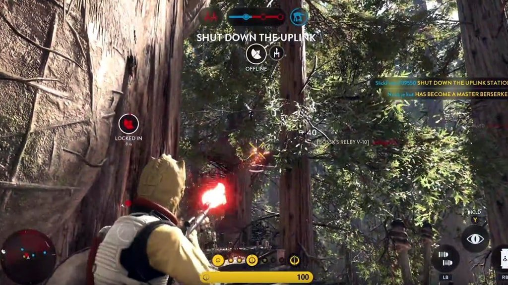 Bossk Shooting Enemy on Endor
