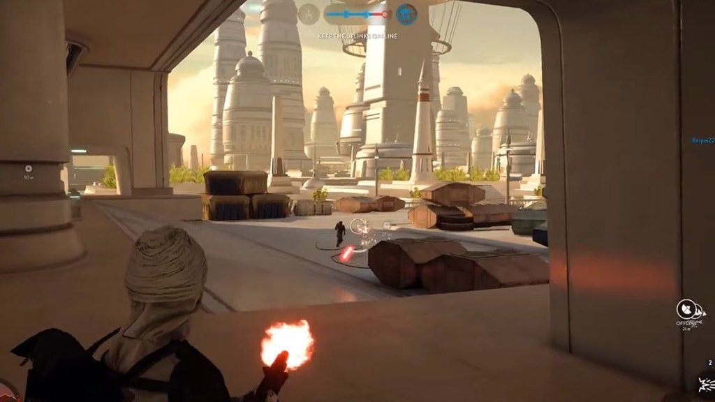 Dengar shooting Stormtrooper in Battlefront